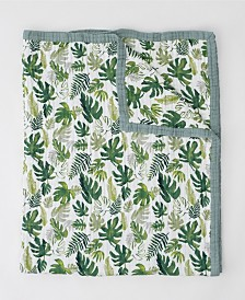 Little Unicorn Tropical Leaf Cotton Muslin Big Kid Quilt