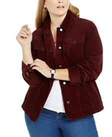 Charter Club Plus Size Corduroy Jacket, Created for Macy's