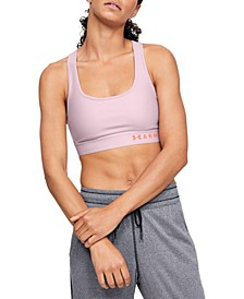 Women's Heathered Cross-Back Medium-Support Compression Sports Bra
