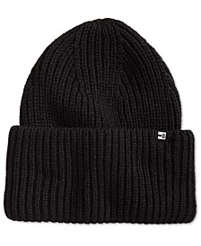 Men's Wide Cuff Ribbed Beanie