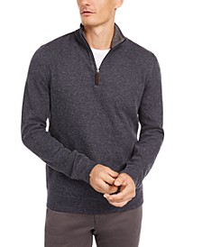 Men's 1/4-Zip Supima Sweater, Created for Macy's