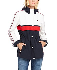Logo-Tape-Trim Hooded Jacket, Created for Macy's