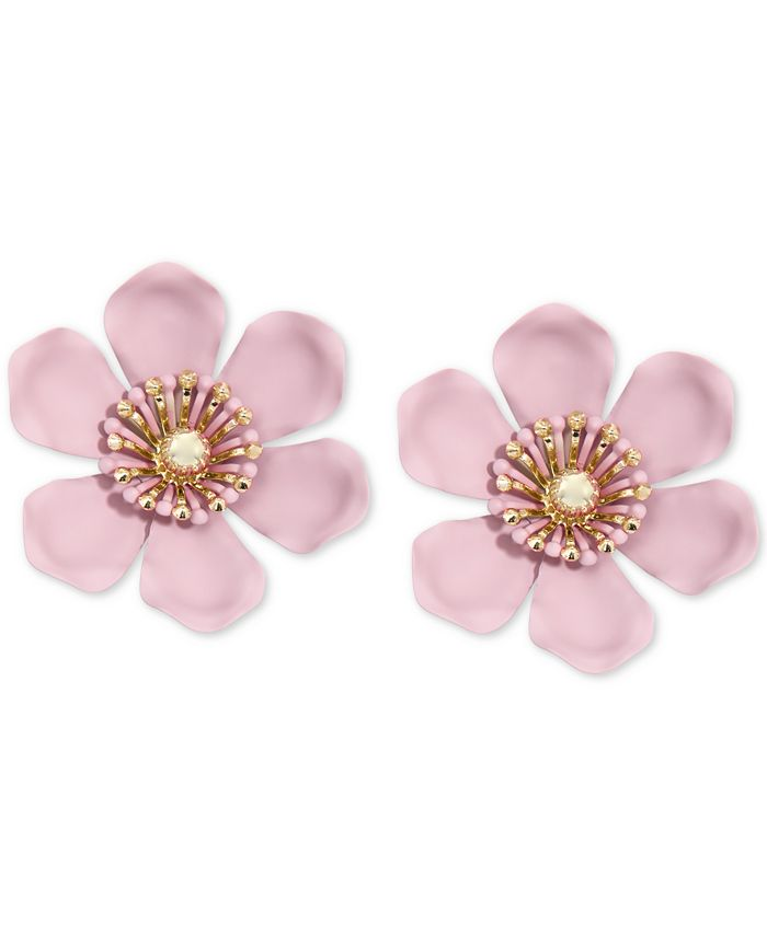 Zenzii - Gold-Tone & Suede-Painted-Finish Lily Statement Earrings
