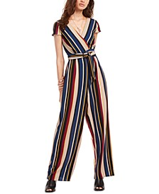 Juniors' Wrap Jumpsuit