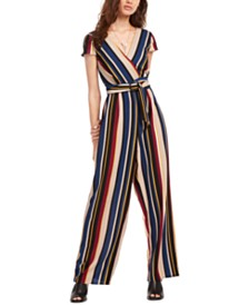 Trixxi Juniors' Wrap Jumpsuit