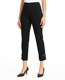 JM Collection Grommet-Hem Ankle Pants, Created for Macy's