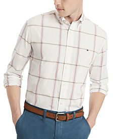 Men's Custom-Fit Cullen Plaid Shirt, Created for Macy's