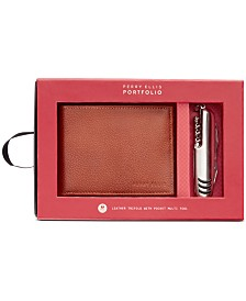 Perry Ellis Men's Passcase & Multi-Tool Set