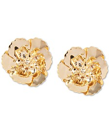 18k Gold-Plated Poppy Stud Earrings