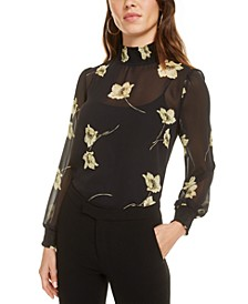 Smocked Chiffon Blouse, Created for Macy's