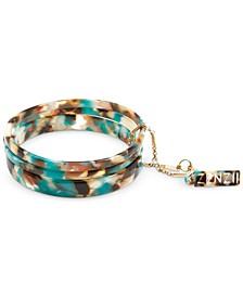 Gold-Tone/Acetate 3-Pc. Set Bangle Bracelets