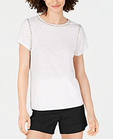 INC Sequin Stitch T-Shirt, Created for Macy's