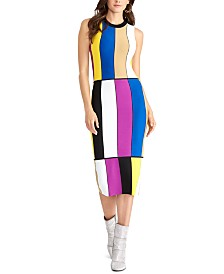 RACHEL Rachel Roy Colorblocked Body-Con Dress