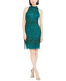 Adrianna Papell Petite Beaded Cocktail Dress