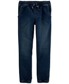 Little & Big Boys Pull-On Denim Jogger Pants