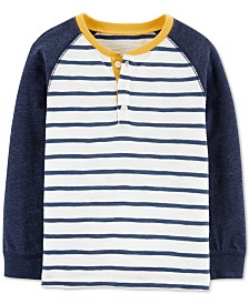Carter's Toddler Boys Striped Henley T-Shirt