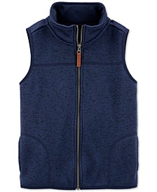 Little & Big Boys Zip-Up Faux-Sherpa Vest