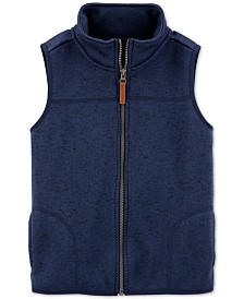 Carter's Little & Big Boys Zip-Up Faux-Sherpa Vest