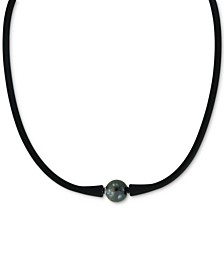 "EFFY® Black Cultured Freshwater Pearl (11mm) Silicone Rubber 14"" Choker Necklace"