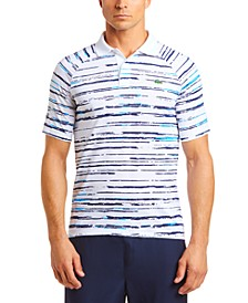 Men's Performance Stretch Novak Djokovic Stripe Polo Shirt