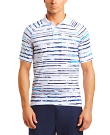 Lacoste Men's Performance Stretch Novak Djokovic Stripe Polo Shirt