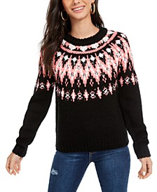 Hooked Up Juniors' Fair Isle Crewneck Sweater