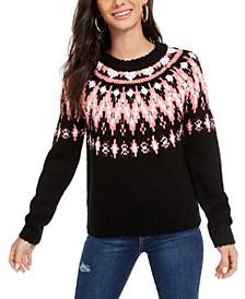 Hooked Up Juniors' Fair Isle Crewneck Sweater