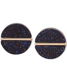 DKNY Gold-Tone & Stone Stud Earrings