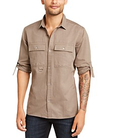 INC Men's D-Ring Utility Shirt, Created for Macy's