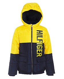 Big Boys Jack Hooded Colorblocked Jacket