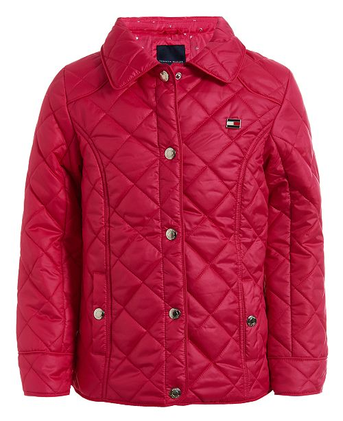 Tommy Hilfiger Little Girls Quilted Barn Jacket