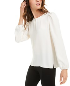 Anne Klein Puff-Sleeve Blouse