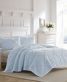 Maisy Blue Quilt Set, Full/Queen