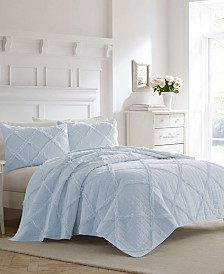 Laura Ashley Maisy Blue Quilt Set, Full/Queen