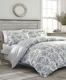 Laura Ashley Annalise Floral Shadow Grey Duvet Set, Twin