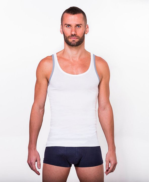 MOSERI 100% Certified Egyptian Cotton Tank - 2 Pack