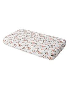 Watercolor Roses Cotton Muslin Crib Sheet
