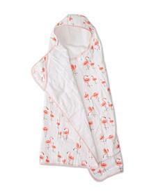 Pink Ladies Cotton Muslin Big Kid Hooded Towel