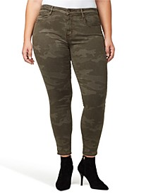 Denim Social Standard Camo Printed Skinny Ankle Jeans