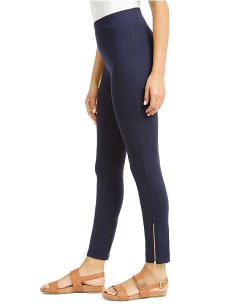 JM Collection Side-Hem Zip Leggings, Created for Macy's