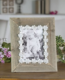 VIP Home & Garden washed Metal Wood Picture Frame