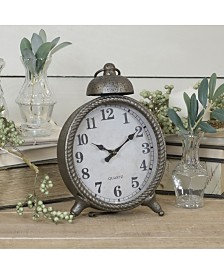 VIP Home & Garden Distressed Metal Table Clock