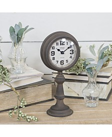 VIP Home & Garden Rustic Metal Table Clock