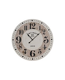 "VIP Home & Garden 23"" Wood Wall Clock"