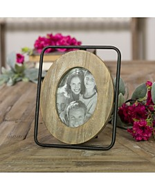 "VIP Home & Garden 4"" X 6"" Wood and Metal Picture Frame"