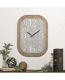 Multi Wood Wall Clock