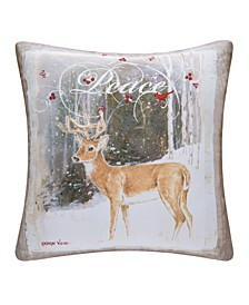 Peace Deer Indoor/Outdoor Pillow