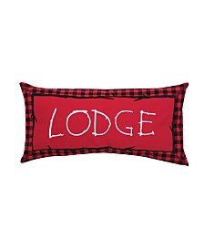 C&F Home Buffalo Check Lodge Embroidered Pillow