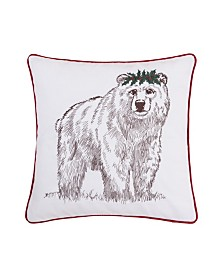 C&F Home Holly Bear Pillow