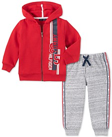 Baby Boys 2-Pc. Fleece Hoodie & Jogger Pants Set